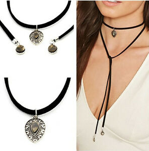 Fashion Women Multilayer Charm Bohemia Black Leather ...