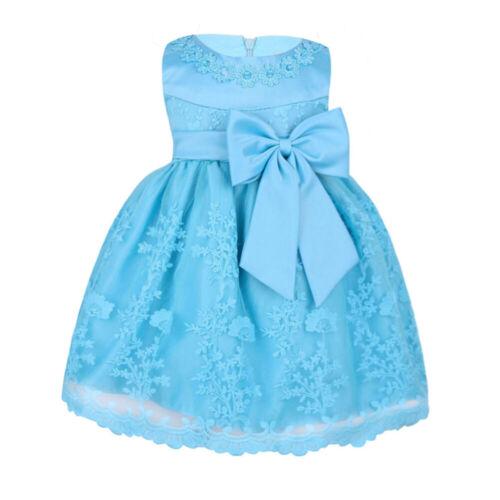 New Cute Lace Christening Baby Princess Girls Dress Wedding Baptism Kids Clothes