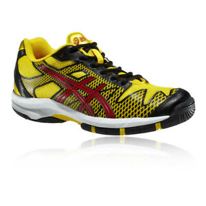 4ea1a900ed75 Details about Asics Junior Gel-Solution Speed GS Tennis Shoes Yellow Sports  Breathable