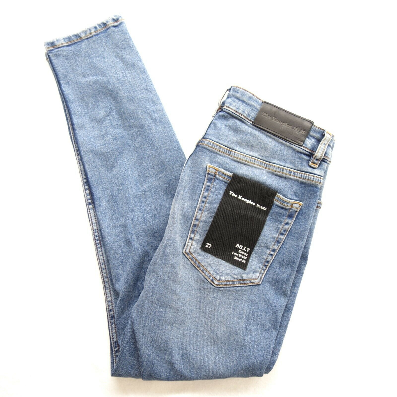 New The Kooples Womans Scull Distressed Skinny Billy Jeans in bluee 27 X 26