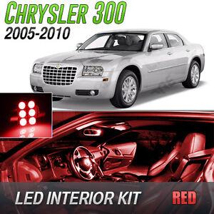 2005 2010 Chrysler 300 Red Led Lights Interior Kit Ebay