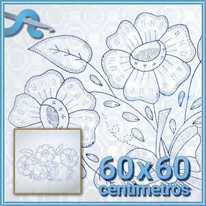 Esquemas en Alemanisco para Bordar Graficos para Bordar en ALEMANISCO Servilleta Alemanisco ALEMANISCO 45x50cm FLORES para Bordar