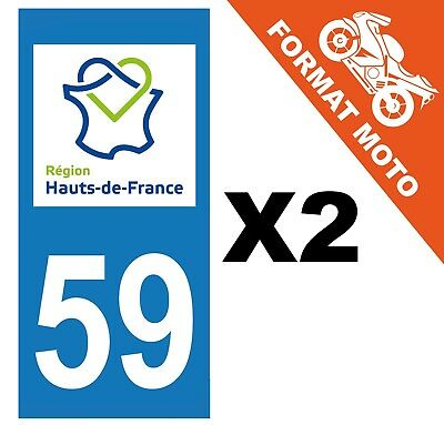 supstick 2 STICKERS AUTOCOLLANT PLAQUE IMMATRICULATION DEPT 59 Hauts de France
