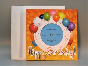 Birthday Card w/ Custom Vinyl Record (Your Recording) - Unique Personalized Gift