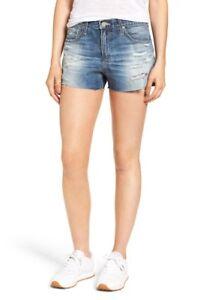 Ag anni Cutoff jeans 19 blu trapuntati Rise Pantaloncini 30 NWT 168 di Bryn High Cqwt5z
