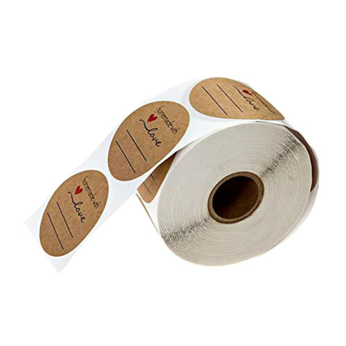 1000x Gifts Sealing Decorative Homemade with Love Stickers Round Labels 1/""