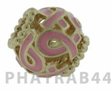 Authentic Retired Pandora 14kt Gold Breast Cancer Awareness Charm 750805EN24