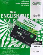 OXFORD NEW ENGLISH FILE Intermediate Level Workbook without Key +MultiROM @New@
