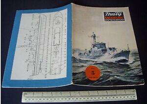 Vintage Maly Modelarz Poland 1979 #6 Card Cut-Out Model Book Polish Warship