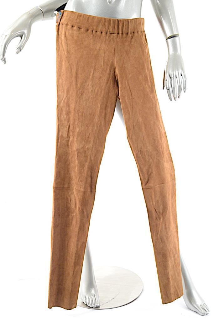 Cognac 100% Suede Stretch Pull-on Legging Pant  Sz XL  WONDERFUL