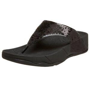0d281de4071 Image is loading Women-039-s-FitFlops-Electra-sequin-thong-Sandals