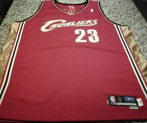 quality design d57be 760cb Details about 2003 2004 Cleveland Cavaliers LeBron James Unused Prototype  Pro Jersey Size 52