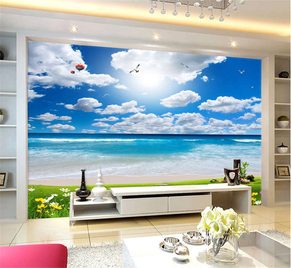 Exclusive Soft Sky 3D Full Wall Mural Photo Wallpaper Printing Home Kids Decor