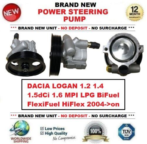 POWER STEERING PUMP for DACIA LOGAN 1.2 1.4 1.5dCi 1.6 MPI LPG BiFuel 2004-/>on