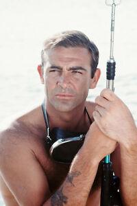 Sean connery 11x17 mini poster holding harpoon gun tattoo for Sean connery tattoos