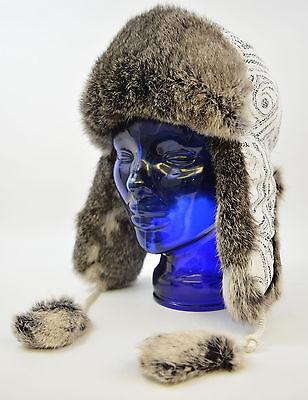 Fellmütze Kaninchen Schapka Ushanka Original Russische Wintermütze