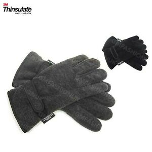 3M THINSULATE ADULT MENS GLOVES BLACK//GRAY NEW W//O TAGS