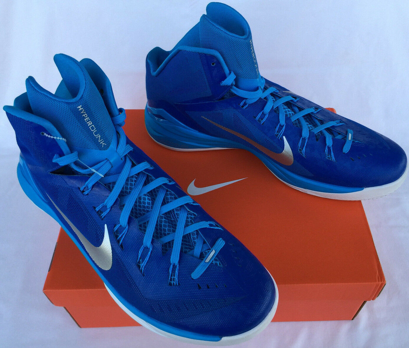 Nike hyperdunk tbc 2014 gioco reale 653483-404 blu, scarpe da basket ncaa maschile 18