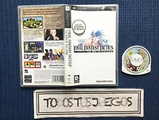 Final Fantasy Tactics Psp PAL ESPAÑA Playstation Portable BUENA CONDICION RARO