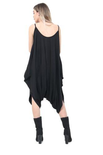 WOMENS ROMPER ALL IN ONE LADIES JUMPSUIT HAREM DRESS BAGGY PLUS SIZE HAREEM