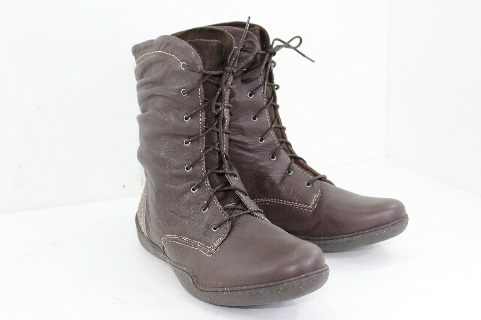 SANITA BOOTS SIZE 41 US SIZE 10 BROWNS ALL LEATHER IN GREAT CONDITION