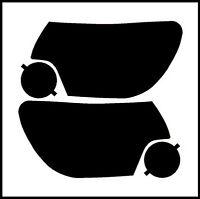 12-15 Toyota Tacoma Smoke Head Light Precut Tint Cover Smoked Overlays