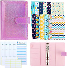 Xgood A6 Pu Leather Binder Cover Binder Budget Envelope Organizer With 12 Pieces