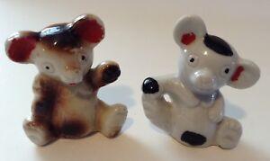 Set of two Vintage Miniature Panda or Koala Animal Figurines Japan Bone China