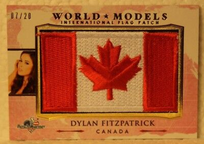 Genteel 2017 Benchwarmer America The Beautiful World Models Wm16 Dylan Fitzpatrick 7/20 Collectibles