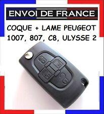 COQUE CLE PLIP TELECOMMANDE PEUGEOT - CITROEN 807, 1007, C8, ULYSSE livré dès48h