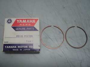 1983 YAMAHA YZ80 YZ 80  4TH OS RINGS  1.00MM RINGSET NOS OEM P//N 22W-11601-40