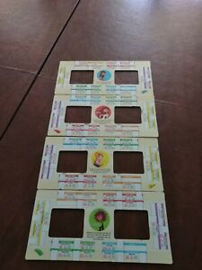 2004 Mall Madness Board Game Parts Replacement Pieces 4 - 2 sided shopping lists