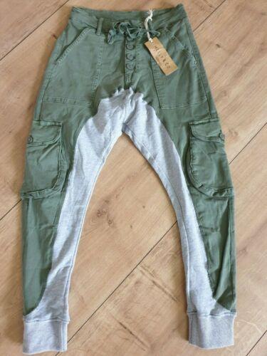 ITALY Melly/&CO JOGG Pants  oliv GR.L MC-8173-14 ITALY Damen Jogger ITALY