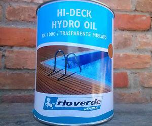 Protezione per parquet esterno 2,5 lt. olio all'acqua per decking Rioverde