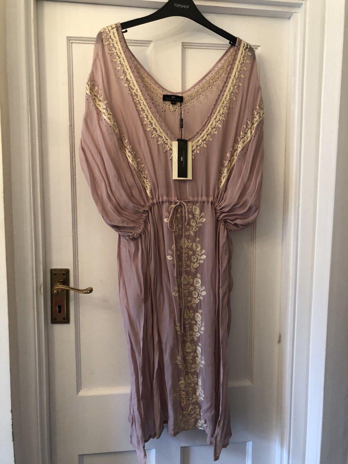 New Day Birger Et Mikkelsen Blaush Silky Tunic Kaftan Boho Summer Dress,40 UK14