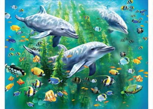 Ravensburger 100 XXL Piece Dolphin Trio Jigsaw Puzzle RB10605-9