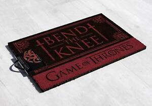 Game-of-Thrones-Fussmatte-Bend-the-Knee-Targaryen-Fussabtreter-Tuervorleger-OVP