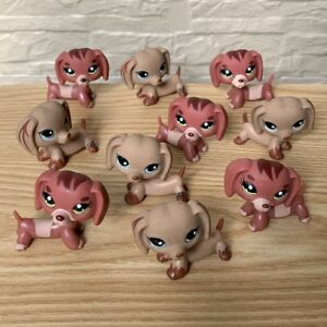 Lot-10Pcs-Littlest-Pet-Shop-Lot-Cat-Puppy-Dachshund-Dog-LPS-animals-figure-toy