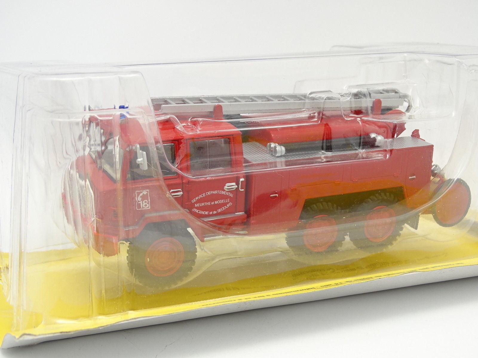 Ixo Presse Hachette Feuerwehr 1 43 - - - BERLIET 6x6 FF415 FPT-hr 0c4b44