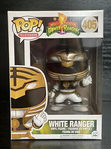 Pop-TV-Mighty-Morphin-Power-Rangers-White-Ranger-405-Funko-Pop-VAULTED-RARE
