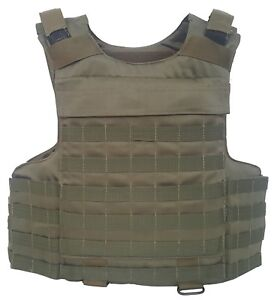 Body armor plate carrier vest MOLLE Kevlar incl 3A