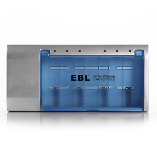 EBL Univeral Charger For AA AAA 9V Ni-MH Ni-CD C D Size Rechargeable Batteries