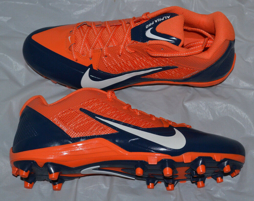 Nike Alpha Pro TD (NFL Broncos) Mens Football Cleat size 13 style 618055-810