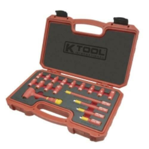 K Tool International IS-WS2018 Socket Wrench Set Insulated 1 4  18pc (isws2018)