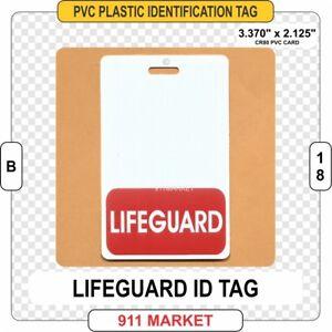 Lifeguard-ID-TAG-Identification-Card-Badge-Water-Rescue-Guard-Beach-Sea-Pool-B18