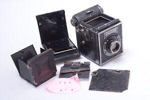 ✅ KW PILOT 6 1936 6X6 120 ROLL FILM CAMERA PARTS* ANASTIGMAT FEET 75MM 4.5  LENS