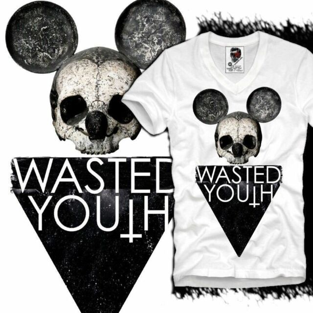 E1SYNDICATE V T SHIRT WASTED YOUTH INDIE HIPSTER PARIS DOPE BOY ELEVEN S/M/L/XL