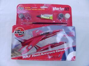 AIRFIX-1-72-RAF-RED-ARROWS-HAWK-Folland-GNAT-AIRPLANE-MODEL-KIT-LEARNING-TOY