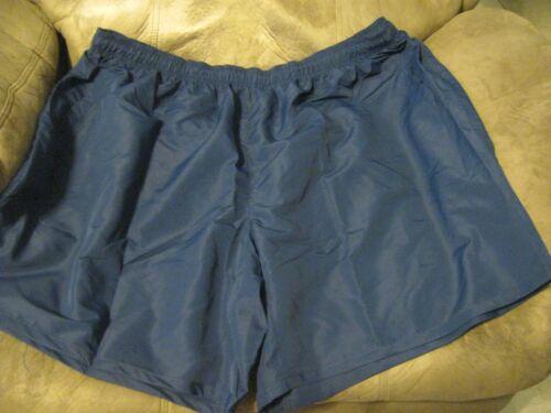 Big Man or Woman Athletic Shorts 7X Navy Blue Drawstring Elastic Waist NWOT