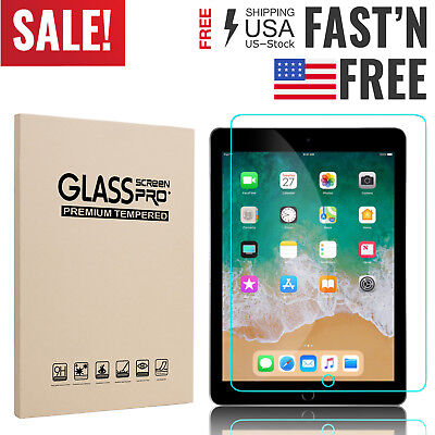 """HD Clear Tempered Glass Screen Protector For New iPad 6th Generation 9.7/"""" 2018"""